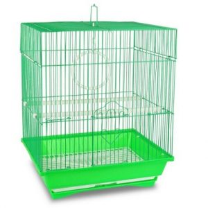Jaula para canarios verde
